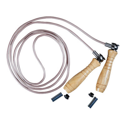 Wooden Boxing Skipping Rope with Removable Weights