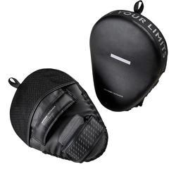Patas de oso para boxeo Outhosck 500 negro curvas con cinta de ajuste