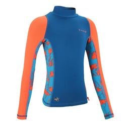 500 Kids' Long Sleeve UV Protection Top Surfing T-Shirt
