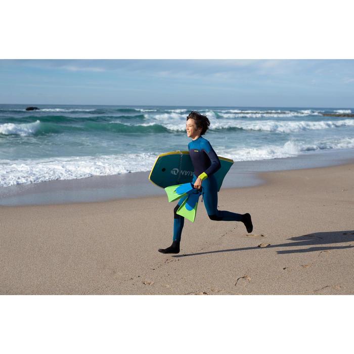 500 Bodyboard Fins with Leash - Green Blue
