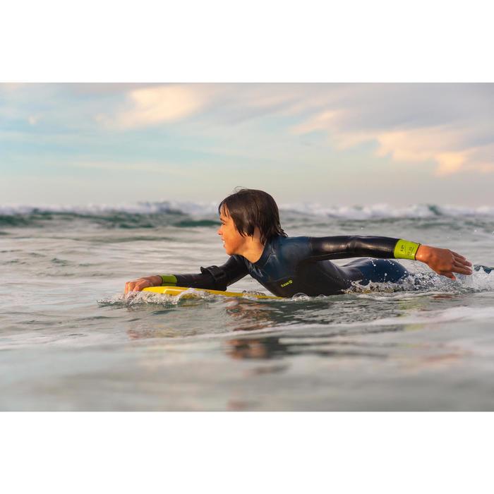 Traje SURF 500 Neopreno 4 3 mm júnior Azul amarillo Olaian  e7cbe3b18a4