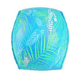成人游泳內襯布料臂圈-綠色印花