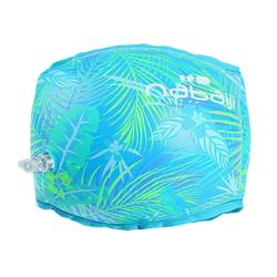 Adult Swimming Fabric-Lined Armbands - Green Print