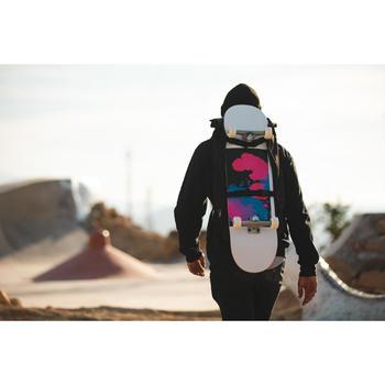 Tabla Skate OXELO COMPLETE 500 Fury paranoid Adulto Blanco/Negro/Coral