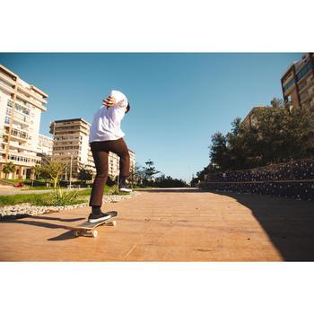 Chaussures basses Slip-On de skateboard adulte VULCA 500 noire / blanc