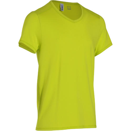 Heren T-shirt voor gym en pilates, slim fit - 164322