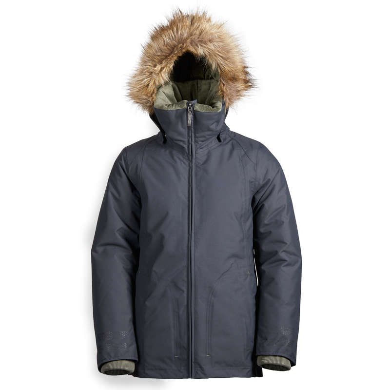 COLD WEATHER JR RIDING JACKETS Horse Riding - 500 Warm Parka - Grey FOUGANZA - Horse Riding