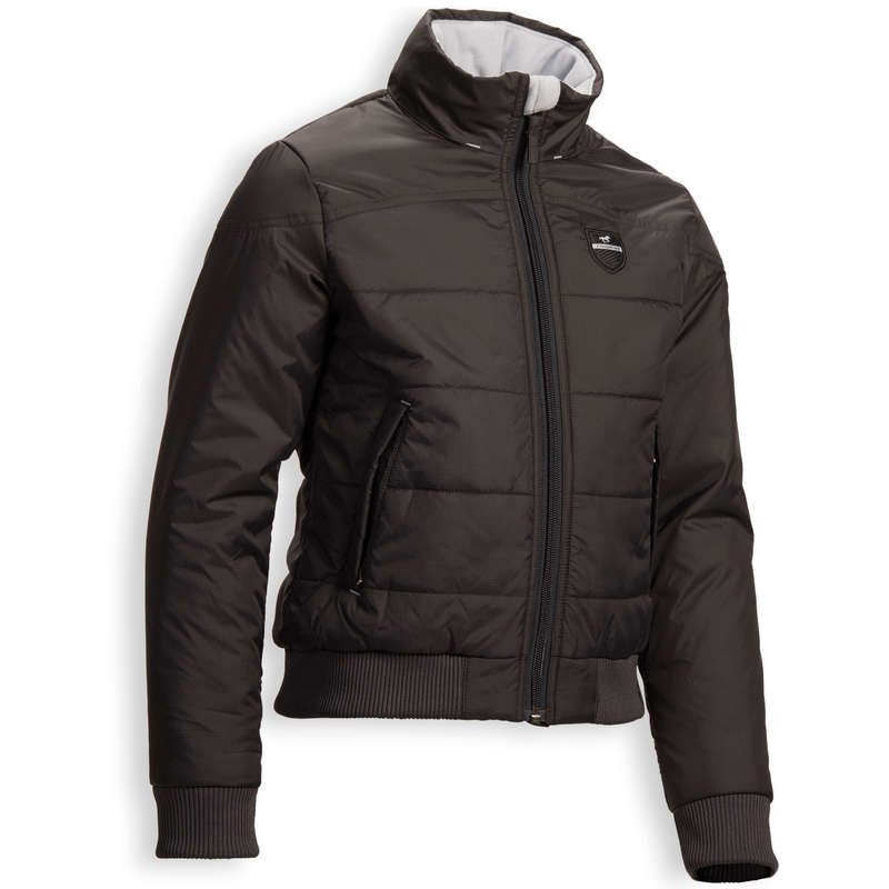 COLD WEATHER JR RIDING JACKETS Horse Riding - 500 Warm Anorak - Grey FOUGANZA - Horse Riding