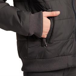 Warme jas ruitersport kinderen 500 Warm grijs