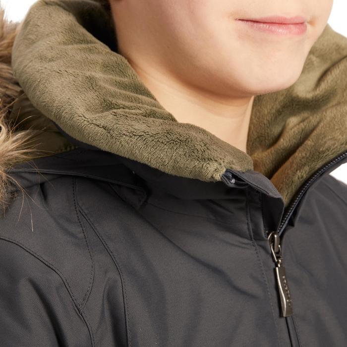 Winter-Reitparka 500 Warm und wasserdicht Kinder grau/kaki