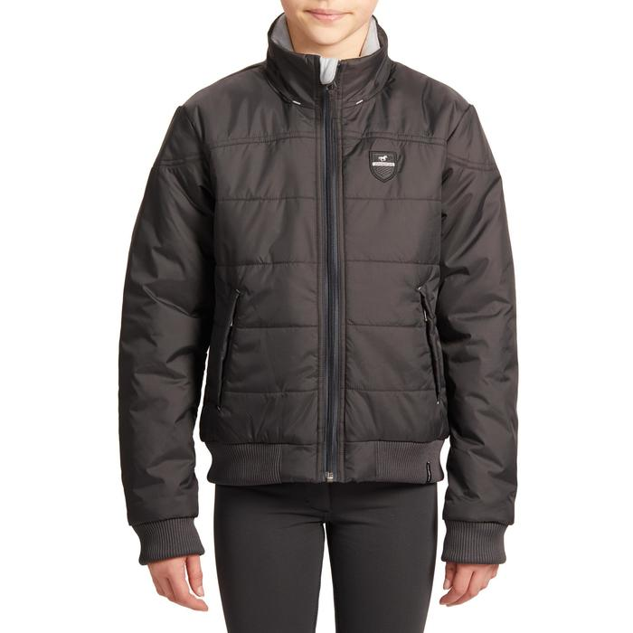 Warme jas voor kinderen ruitersport 500 Warm grijs