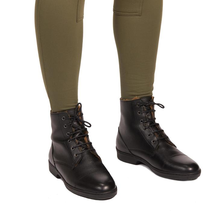 Winter-Reithose 100 Warm Damen kaki