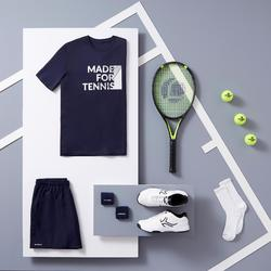 Tennisshirt heren Soft 100 marineblauw