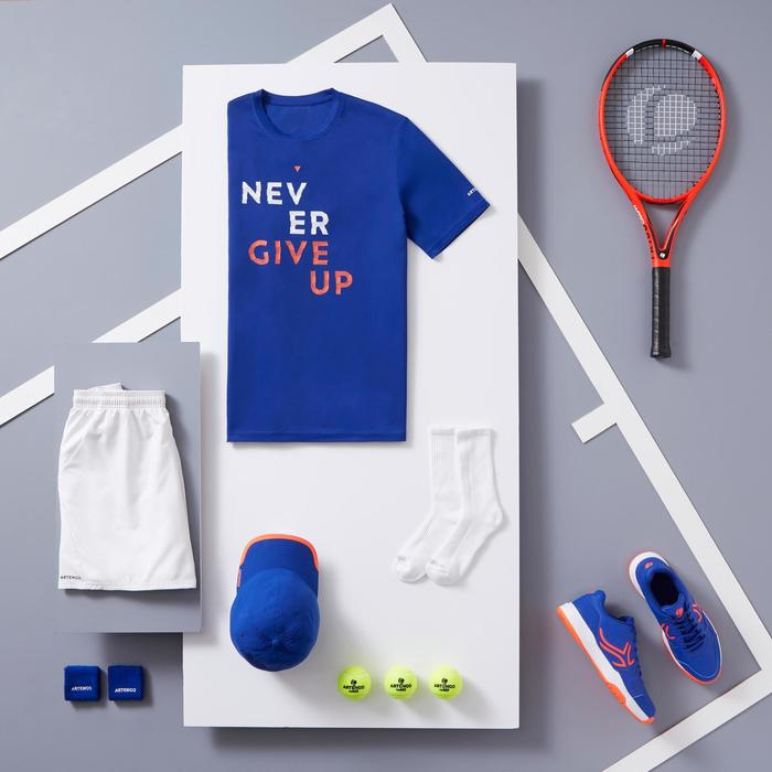 Tennisshirt heren Soft 100 blauw
