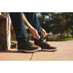 Chaussures basses (cupsole) de skateboard adulte CRUSH 500 kaki
