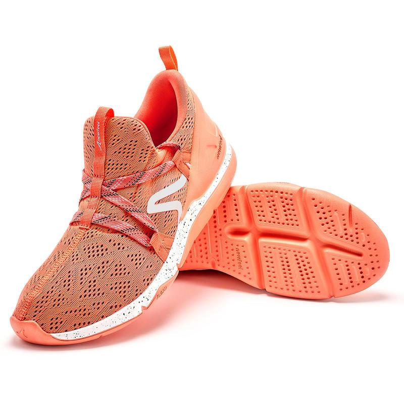 รองเท้าใส่เดินเพื่อสุขภาพสำหรับผู้หญิงรุ่น PW 140 (สีส้ม Coral)