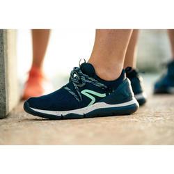 Zapatillas Caminar Newfeel PW 140 Mujer Azul/Verde