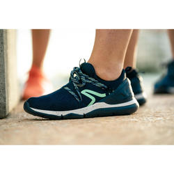 Zapatillas de Marcha Deportiva Newfeel PW 140 mujer azul y verde