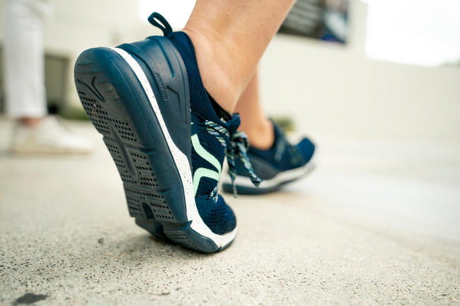 Walking Shoes for Women Fitness - PW 140 blue/green