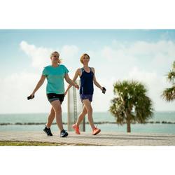 Freizeitschuhe Walking PW 140 Damen blau/grün