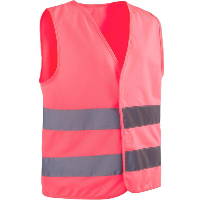 GILET DE SECURITE ENFANT ROSE