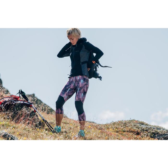 Fleece damesvest voor fast hiking MH500 zwart