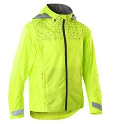 Fahrradregenjacke 500 Kinder neongelb