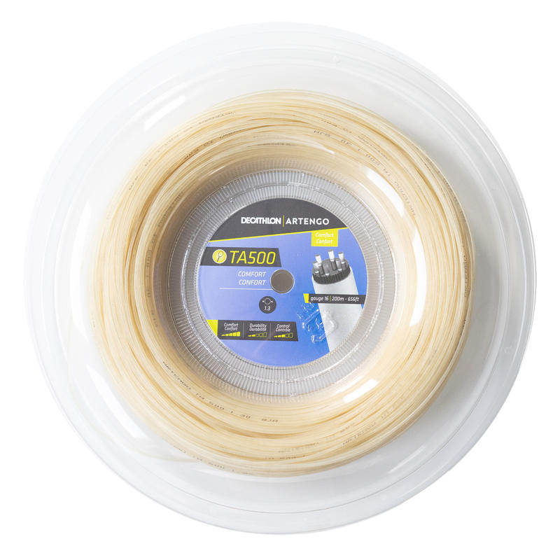 Cordage tennis multifilaments TA 500 confort 1,3mm beige 200m