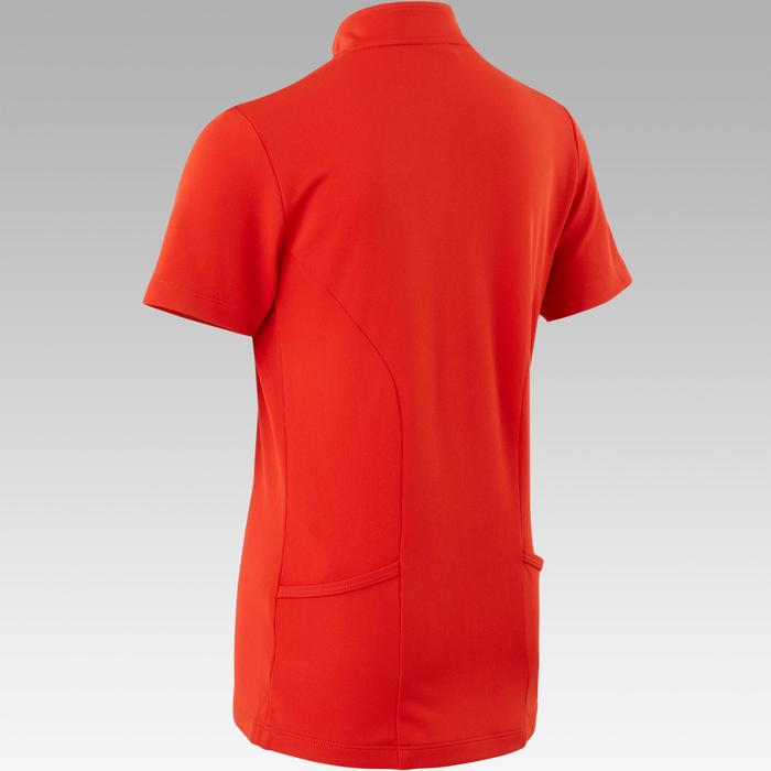 Fietsshirt kind 100 met korte mouwen rood