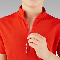 Fietsshirt met korte mouwen voor kinderen 100 rood