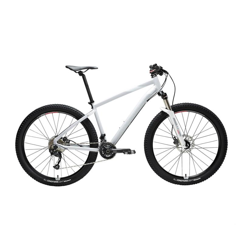 """Mountainbike voor dames ST 540 grijs/roze 27.5"""""""