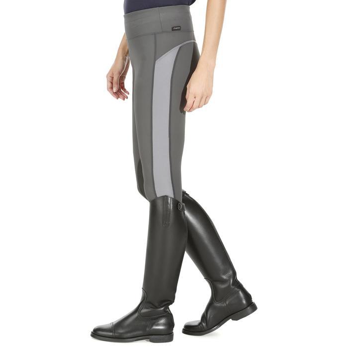Legging équitation femme gris 100 LIGHT g