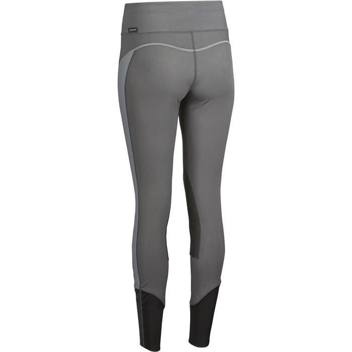 Rijbroek voor dames ruitersport 100 Light grijs