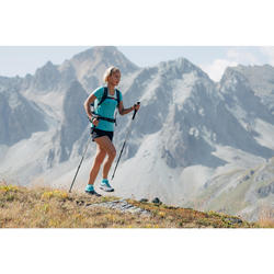Dames T-shirt voor fast hiking FH500 Helium turquoise