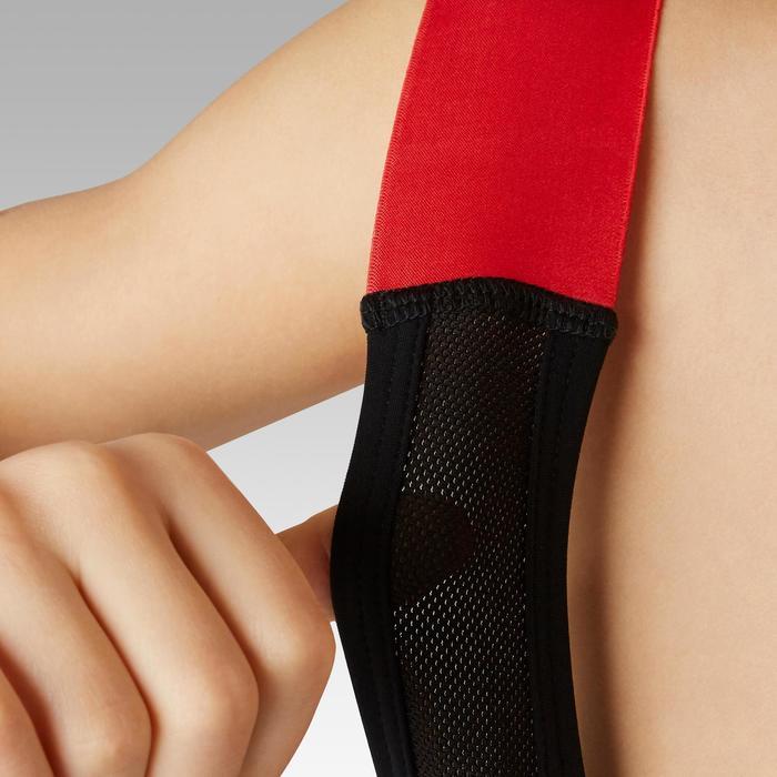Fietsbroek met bretels voor kinderen 900 zwart/rood