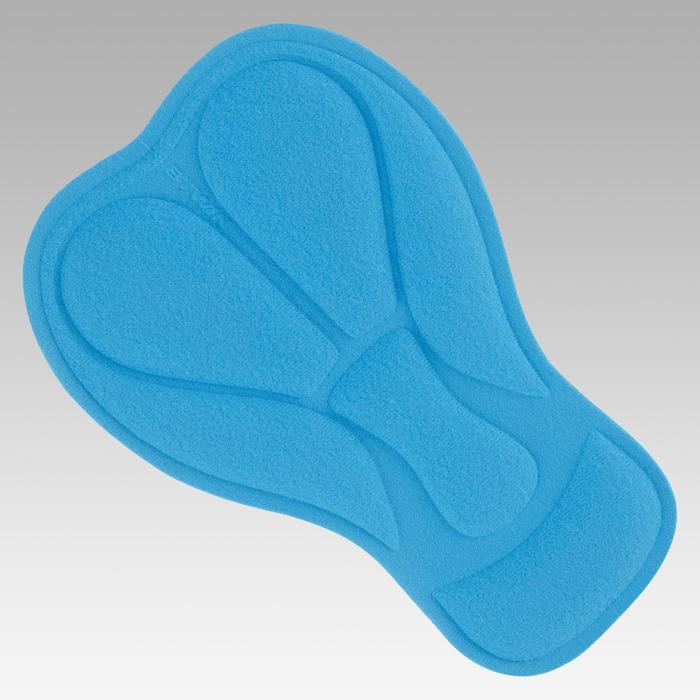 Fietsbroek zonder bretellen voor kinderen 500 zwart/fluogeel