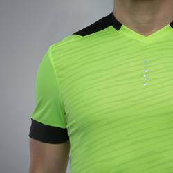 成人款足球運動衫F500-亮黃色