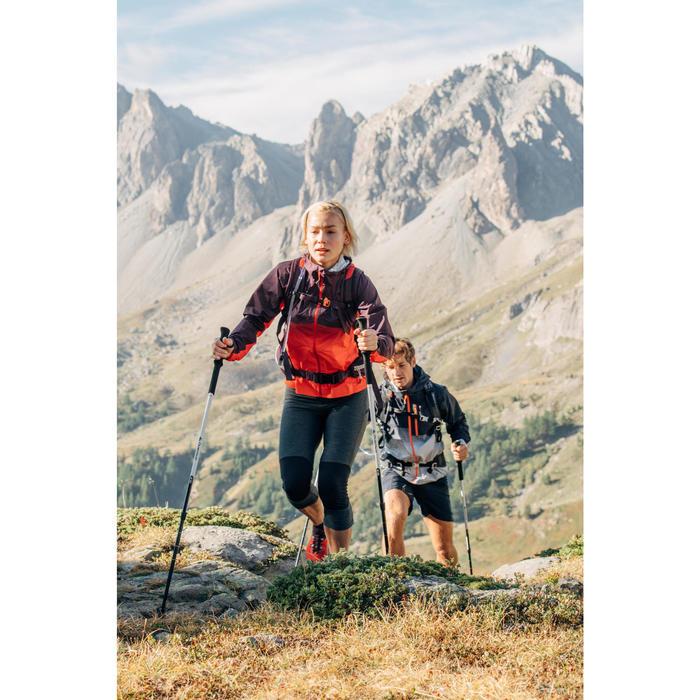 Legging voor fast hiking dames FH500 Helium gemêleerd grijs