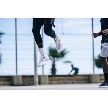 Basketbalschoenen volwassenen H/D halfgevorderden SC 500 high wit