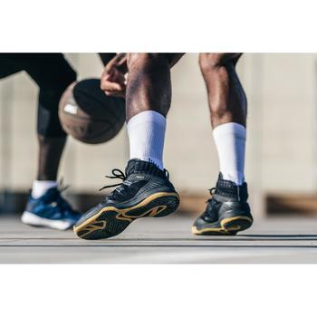 CHAUSSURE DE BASKETBALL HOMME SC500 - NOIR/OR - TIGE HAUTE