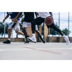 CHAUSSURE DE BASKETBALL HOMME SC500 - BLANC/NOIR - TIGE HAUTE
