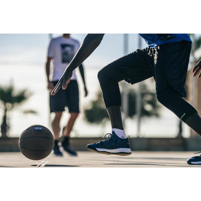 CHAUSSURE DE BASKETBALL POUR ADULTE H/F JOUEUR CONFIRME SC500 MID BLEU OR