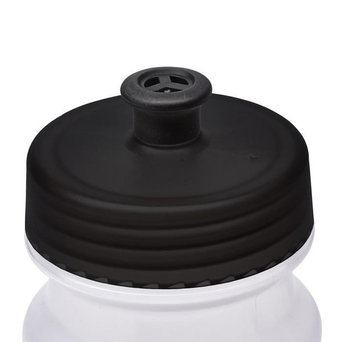 Sportbidon doorschijnend zwart 550 ml