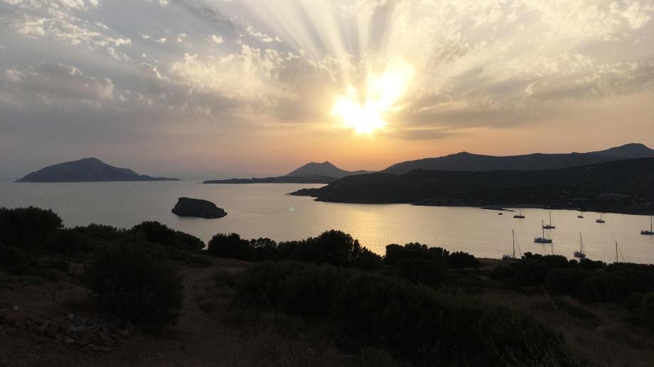 Mouillage de Sunion en Grèce par Violette