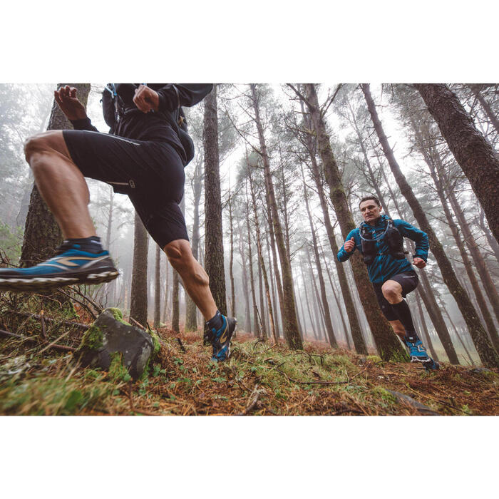MEN'S TRAIL RUNNING SLEEVELESS JACKET - GREY/BLACK