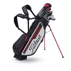 Golf Standbag Stadry wasserdicht schwarz/weiß