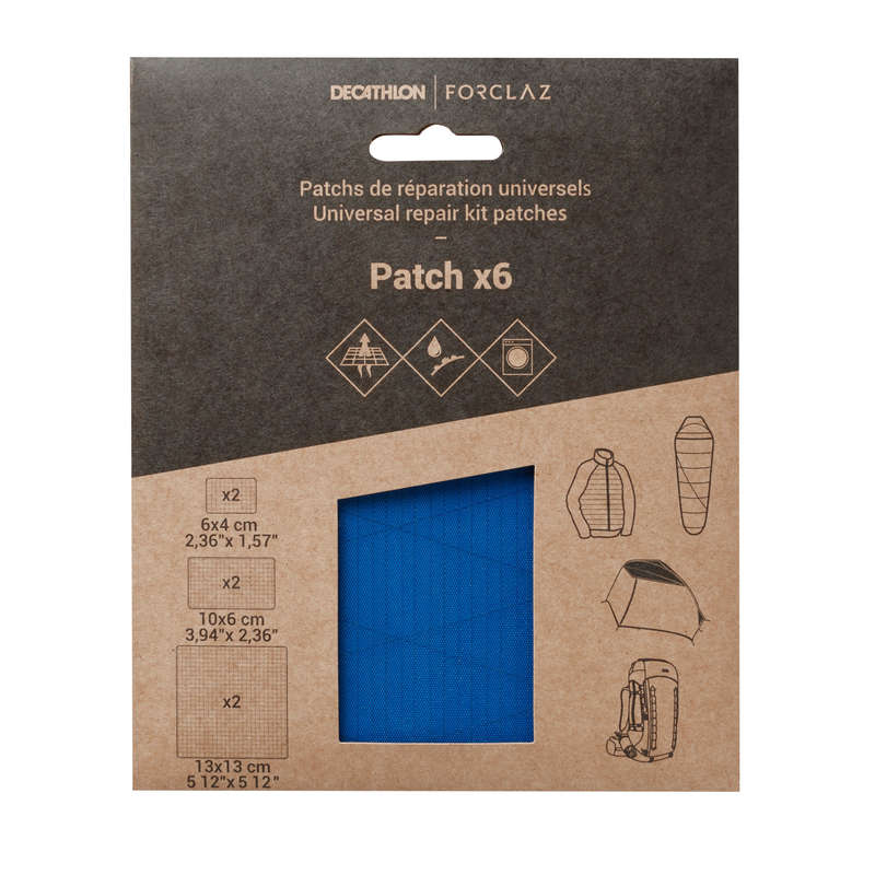 HIKING CAMP TENTS ACCESS - Multipurpose Repair Patches Bl FORCLAZ