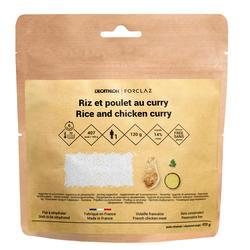 Vriesdroogmaaltijd voor trekking rijst met kip en curry glutenvrij