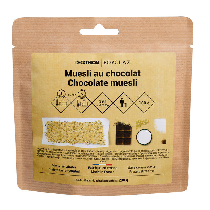 Desayuno trekking muesli cereales chocolate 100 g