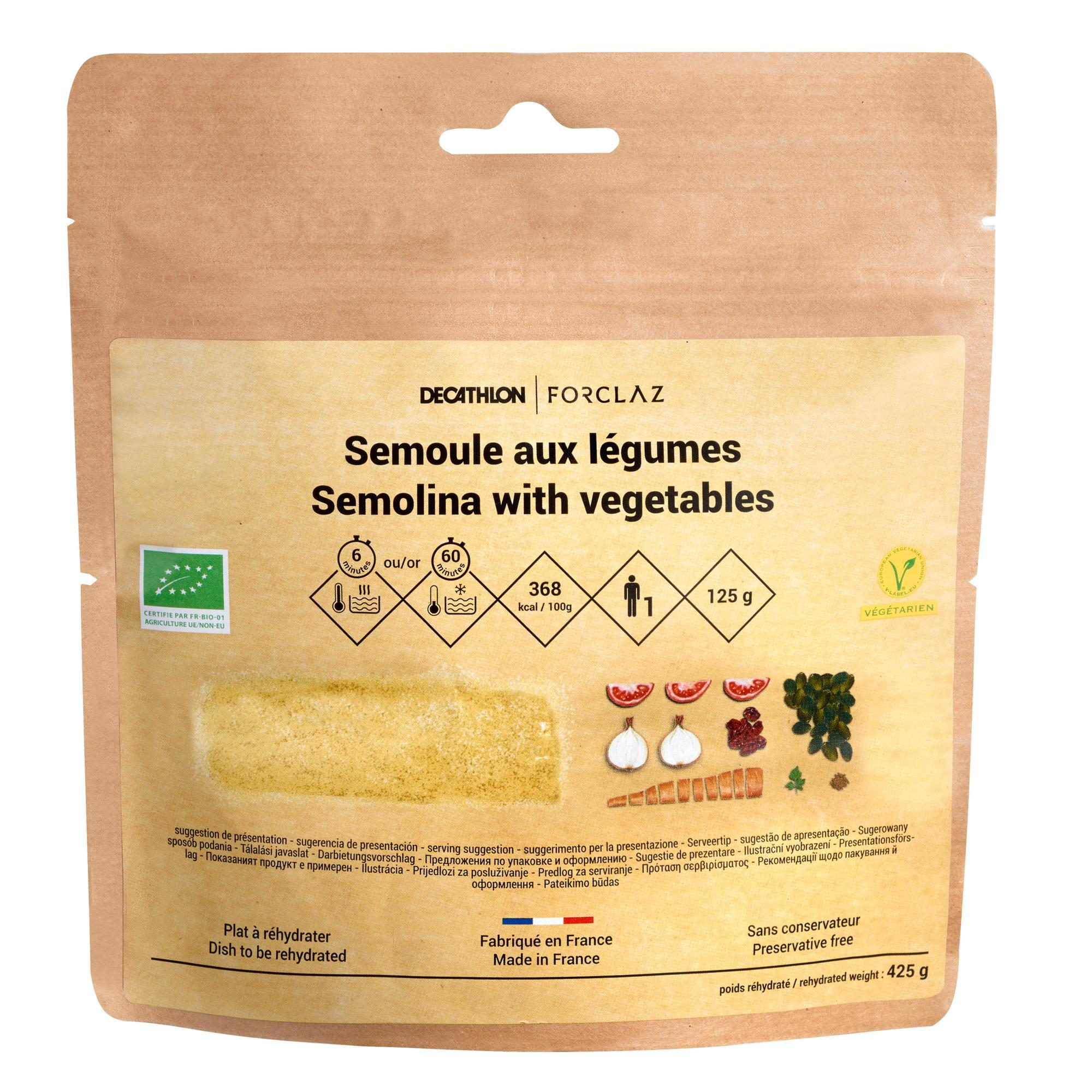 Forclaz Vriesdroogmaaltijd voor trekking bio veggie couscous 125 g